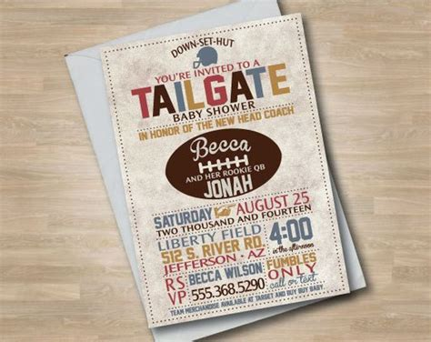 Come With Me Tailgate Ae Invites by Football Baby Shower Invitation Tailgate Baby Shower