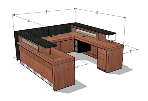 ada reception desk height concept drawings arnold contract