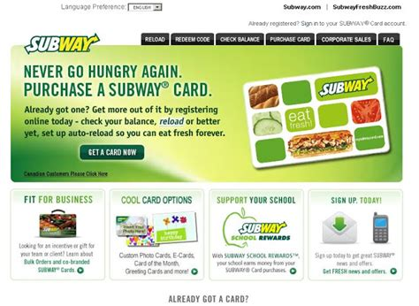 Check Subway Gift Card Balance - check my subway card balance online at www mysubwaycard com letmeget com
