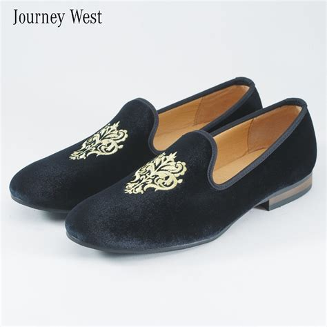 Embroidery Loafers buy s shoes velvet loafers slippers