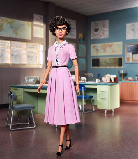 katherine johnson nasa barbie mattel models new barbie doll after nasa hidden figure