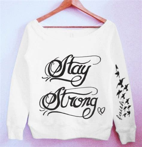 demi lovato stay strong tattoo demi lovato stay strong sweater by crewwear on etsy