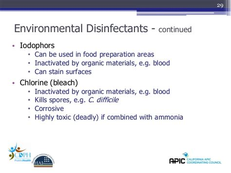 design for the environment disinfectants slide set 13 cleaning disinfection sterilization