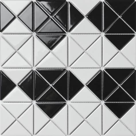 mosaic pattern triangle 2 glossy multi diamond pattern porcelain triangle mosaic
