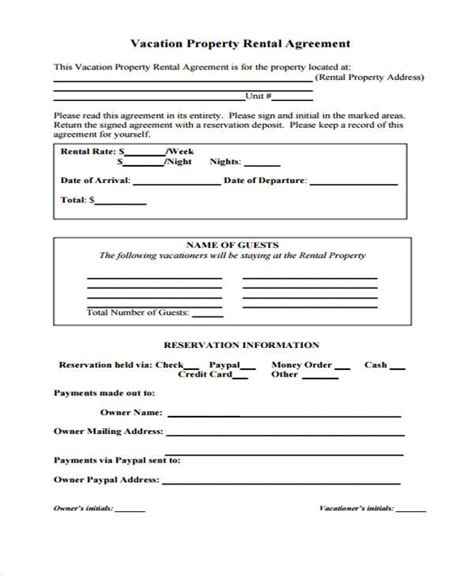 agreement form format property agreement form 11 free documents in word pdf