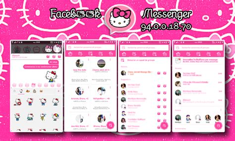 hello kitty messenger themes apk hello kitty facebook messenger for android by