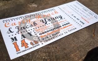 baseball wedding invitations baseball ticket wedding invitation sle