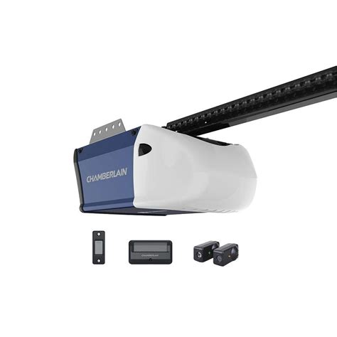 garage door drive chamberlain 1 2 hp chain drive garage door opener hd210