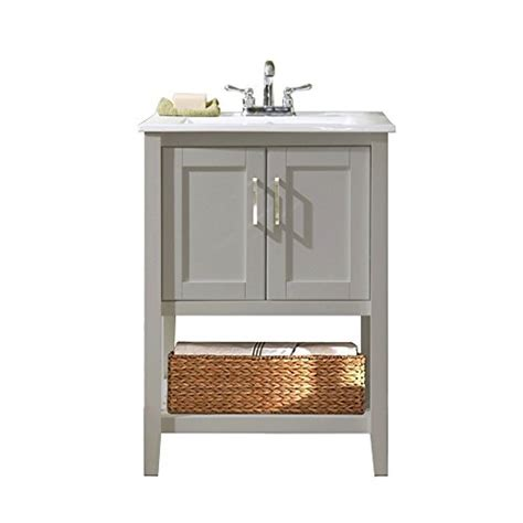 legion furniture wlf6020 g bs 24 quot single sink bathroom vanity with basket and ceramic sink top