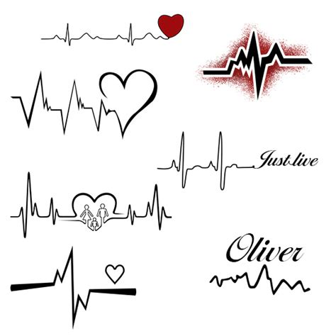 heart with heartbeat tattoo 8 heartbeat designs that are worth trying