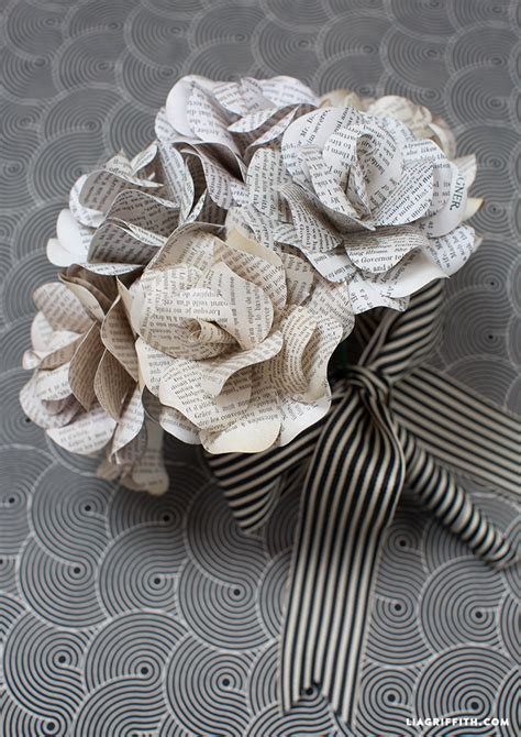 How To Make Vintage Paper Flowers - vintage book page flowers lia griffith