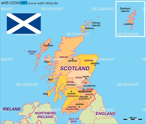map uk scotland map of scotland politically united kingdom map in the