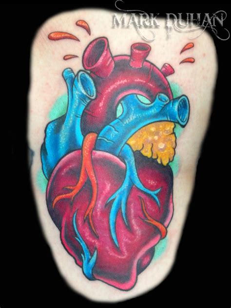 anatomical heart tattoos tattoos and designs page 8