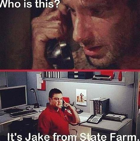 Jake From State Farm Meme - jake state farm the walking dead memes pinterest