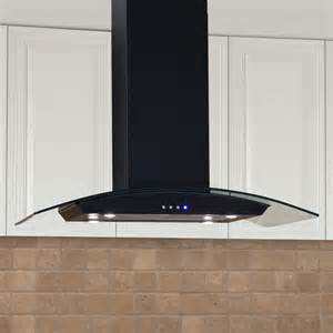 Kitchen Island Range Hood by Casa Series 36 Quot Stainless Steel Black Island Range Hood