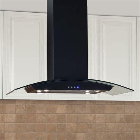 "Casa Series 36"" Stainless Steel Black Island Range Hood   600 CFM Fan   Kitchen"