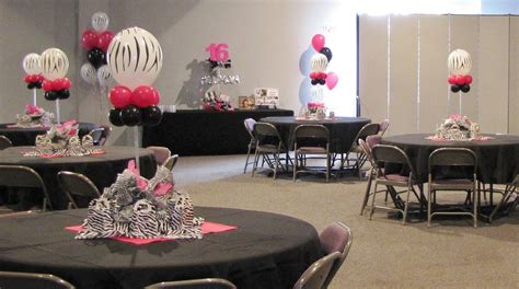 Party People Event Decorating Company Meghans Zebra Print Zebra Centerpieces For Tables