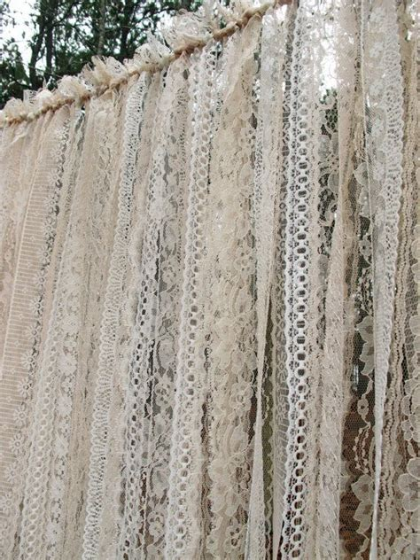 hanging lace curtains lace garland backdrop for weddings garland pinterest