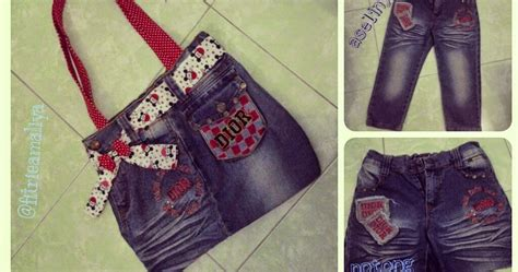 latar belakang membuat tas dari jeans bekas hobby dan kreasi tas lucu dari jeans bekas