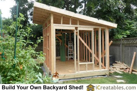 plan  building   modern shed simple