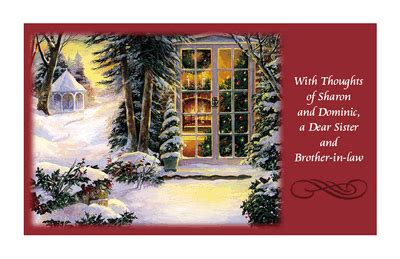 dear sister  brother  law greeting card christmas printable card american