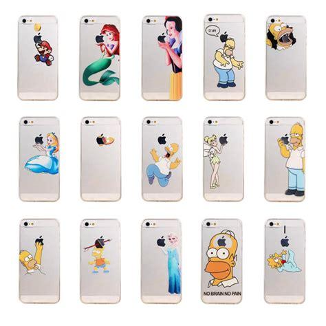 Spongebob Softcase For Iphone 44s55s 1 unique design transparent clear homer eat logo