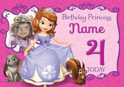 Princess Sofia Birthday Card Template by Sofia The Birthday Princess Funky Pigeon