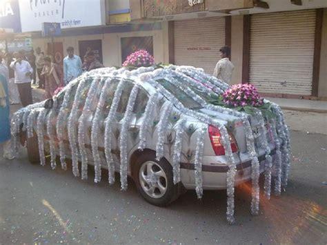 Indian wedding car decorations  Shaadi