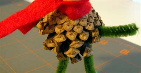 totally adorable pinecone elf tree topper for the non