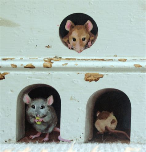 and lola wall stickers 3 x miniature mice mouse decals unique stickers from lola murals mice mouse mice and