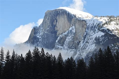 winter yosemite national park el capitan usa mountains