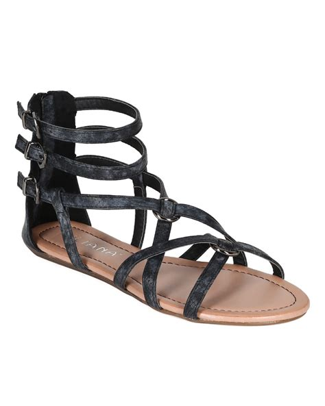 ankle sandals new liliana 06 snake strappy ankle