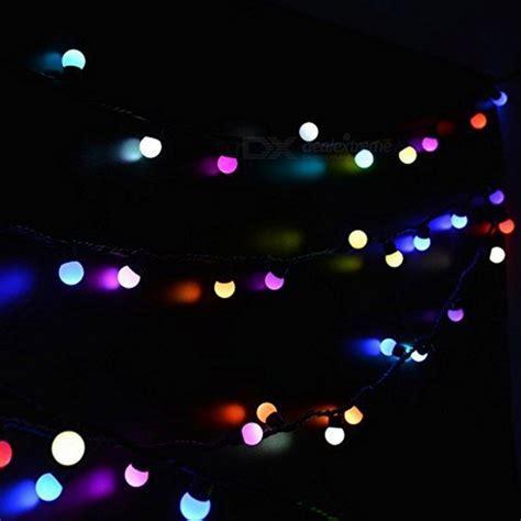 50 Led 16ft Rgb Fairy Globe String Light W Controller Rgb String Lights