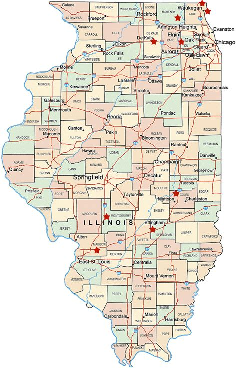 map of illinois illinois map travelsfinders
