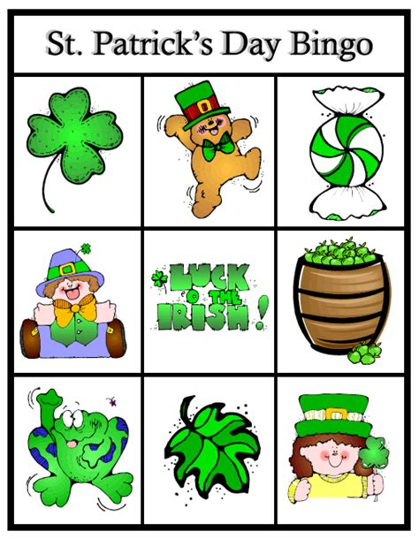 St S Day Photo Card Template by Free Printable Tickets Template Clipart Best