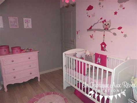 decoration chambre bebe fille et gris