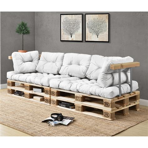 mit lehne en casa 1x back cushions pallet in outdoor sofa padding