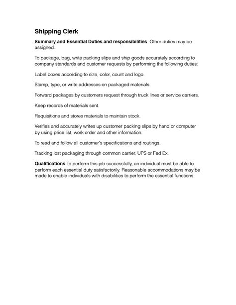 retail clerk description how to write a resume experience