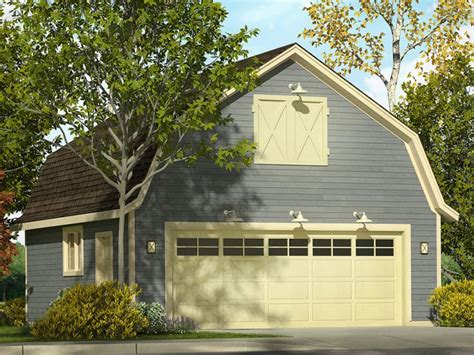 gambrel garage 2 car garage plans two car garage plan with gambrel roof