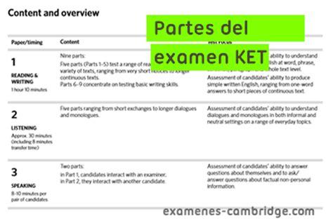 preguntas ket speaking partes del examen key english ket