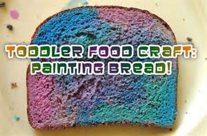 food craft toddler craft project painting bread for snack time woo