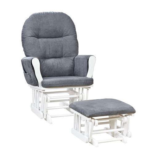 naomi home brisbane glider ottoman set white dark gray naomi home brisbane glider ottoman set ojcommerce