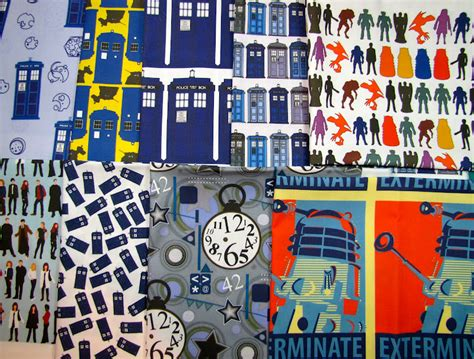Dr Who Quilt Fabric by Canton Quilt Works Doctor Who