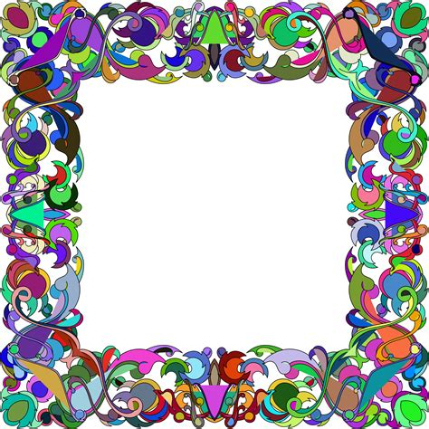 colorful picture frames clipart colorful abstract frame