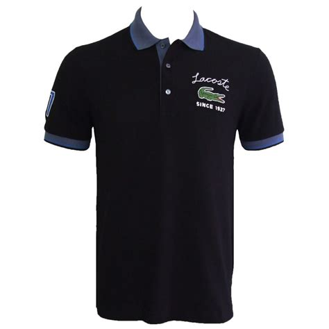 Polo Shirt Lacost Tosca List Black lacoste polo shirt black ph7743 00