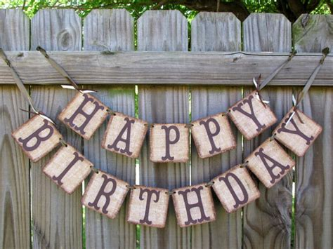 happy birthday country style happy birthday burlap banner rustic birthday banner