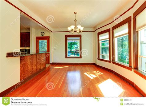 soft and hard interiors by color empty house interior in soft ivory with brown trim stock