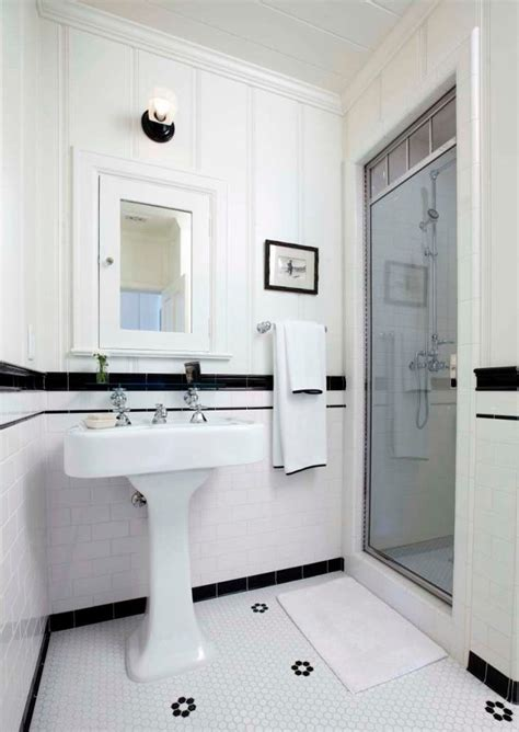 black white and blue bathroom blue white black hex tile bathroom traditional with subway