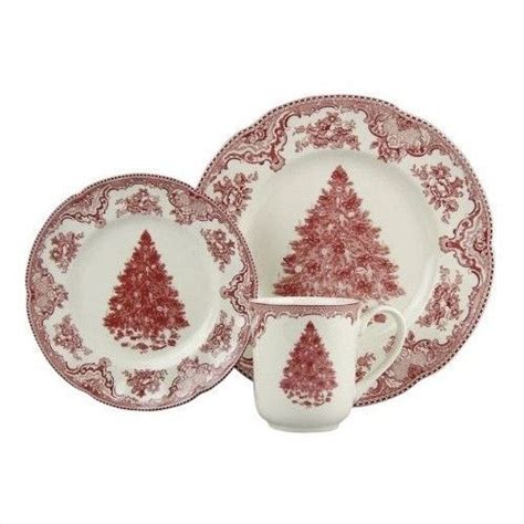 old britain castles pink christmas dinnerware collection