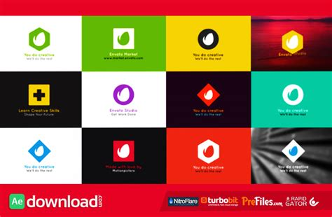 videohive free template simple folding logo videohive project free